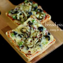 bread pizza recipe   veg bread pizza recipe   vegetable bread pizza