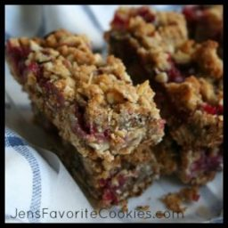 Breakfast Bars with Plum Filling