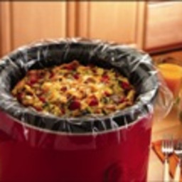 Breakfast Casserole with Spinach and Bacon in your Slow Cooker