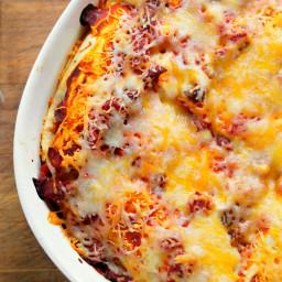 Breakfast Enchilada Overnight Bake
