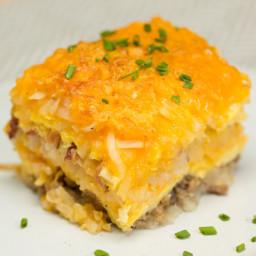 Breakfast Hash Brown Lasagna