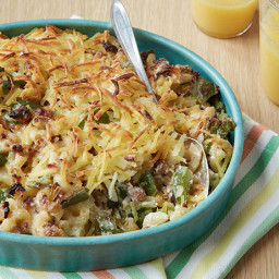 Breakfast Macaroni and Cheese with Sausage and Hash Browns