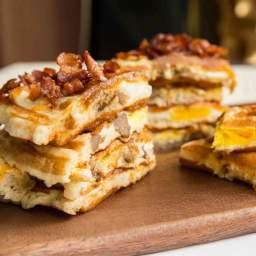 Breakfast Sandwich Waffles Recipe
