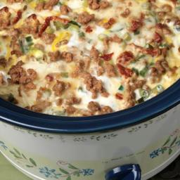 Breakfast Sausage Casserole - Slow Cooker