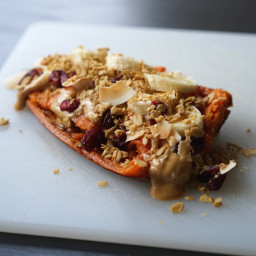 Breakfast Sweet Potato with Peanut Butter & Banana
