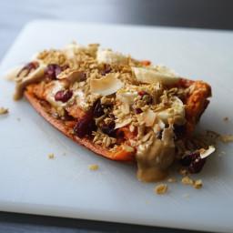 Breakfast Sweet Potato with Peanut Butter & Banana