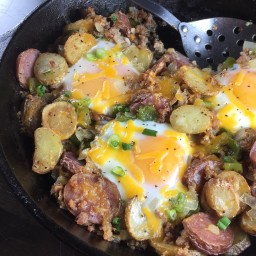 Breakfast Skillet: Potato, Sausage, Egg