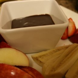 Kid's Chocolate Peanut Butter Fondue