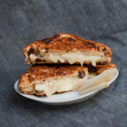 Brie and Pear Grilled Cheese Sandwich