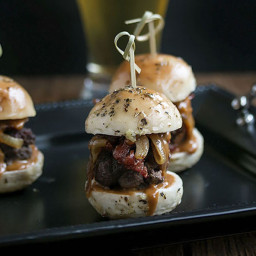 Brisket Sliders and Whiskey Sauce