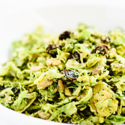 Broccoli and Brussels Sprout Detox Slaw with Creamy Curry Dressing