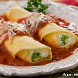 Broccoli and Cheese Manicotti
