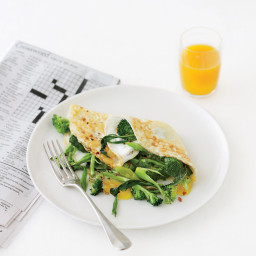 Broccoli-and-Cheese Over-Easy Omelet