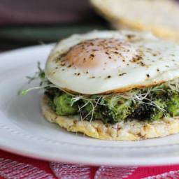 Broccoli Avocado and Egg Toast