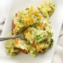Broccoli Cheddar Baked Potatoes