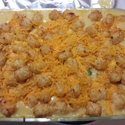 Broccoli Cheddar, Chicken and Tater Tot Casserole