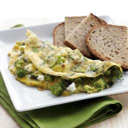 Broccoli & Feta Omelet with Toast