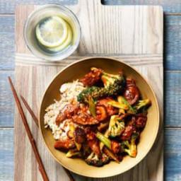 Broccoli, Mushroom and Beef Stir-Fry