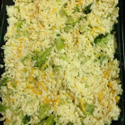 Broccoli, Mushroom, Cheese Casserole