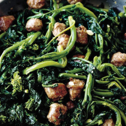 Broccoli Rabe with Sweet Italian Sausage recipe | Epicurious.com