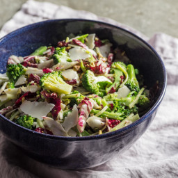 Broccoli Salad With Radicchio, Basil, and Pistachios Recipe