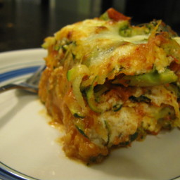 Broccoli, Squash and Three-Cheese Lasagna