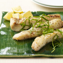 Broiled Halibut with Lemon and Herbs