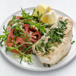 Broiled Halibut with Summer Herbs