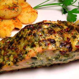 Broiled Herb-Crusted Salmon