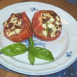 Broiled Tomatoes with Feta Cheese