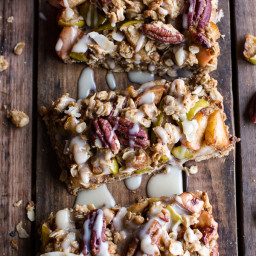 Brown Butter Caramelized Apple Crisp Bars with Pecan Streusel