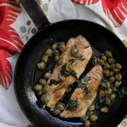 brown butter fish with lemon and capers