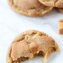 Brown Butter Salted Carmel Snickerdoodles