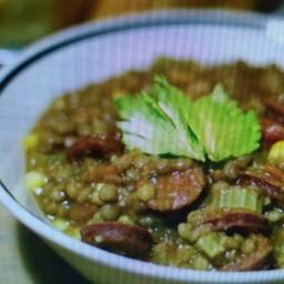 Brown Lentil & Spicy Chorizo Soup/Stew