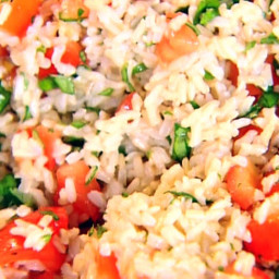 Brown Rice, Tomatoes and Basil