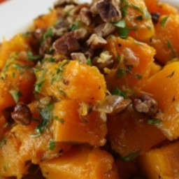 Brown Sugar Butternut Squash with Toasted Pecans