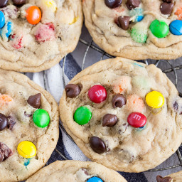 Brown Sugar Chocolate Chip Cookies with M and Ms