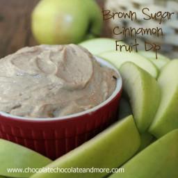 Brown Sugar Cinnamon Fruit Dip