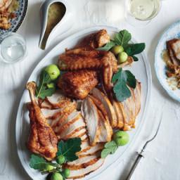 Brown Sugar-Cured Turkey with Apple-Bourbon Gravy