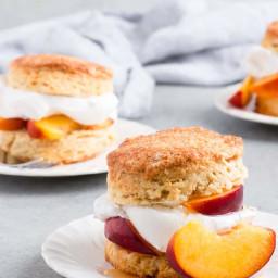 Brown Sugar Peach Shortcake Recipe