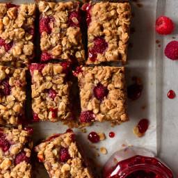 Brown Sugar Raspberry Jam Crumble Bars
