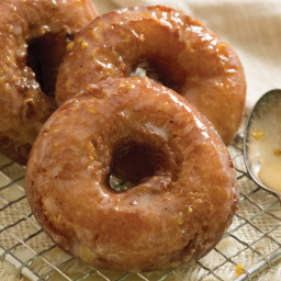 Browned Butter Doughnuts with Orange-Browned Butter Glaze