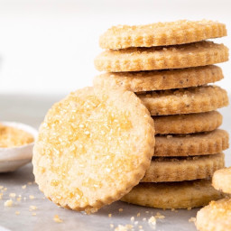Browned Butter Shortbread Cookies