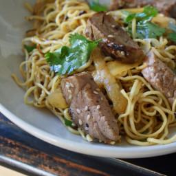 Browned Noodles w/Pork
