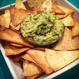 Brownies Guacamole with Tortilla Chips