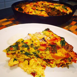 Smoked Chicken & Vegetable Frittata