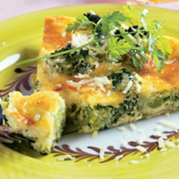 Brunch - Broccoli, Mushroom and Three Cheese Quiche