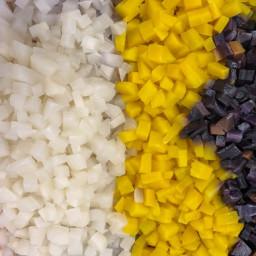 Brunoises de légumes / fruits
