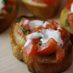 Bruschetta with Mozzarella