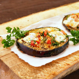 Bruschetta Topped Roasted Eggplant